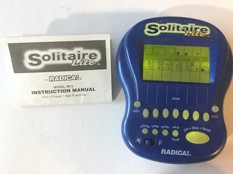 【GINGER掲載商品】 [ラディカエレクトリックゲーム]Radica electronic game Solitaire Lite 9812 [並行輸入品] B004GJS0HQ, 激安家電の店 愛グループ 1dca271d