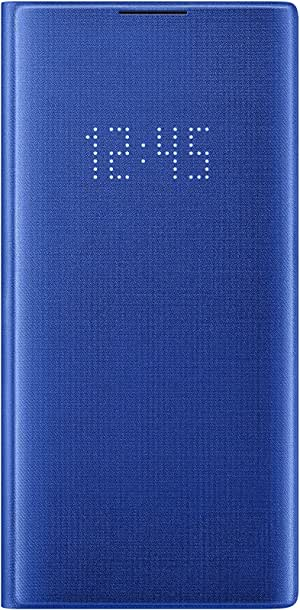 Samsung Galaxy Note10+ Case, LED Wallet Cover - Blue (US Version with Warranty)
