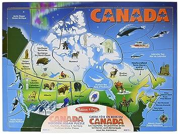Melissa  Doug Canada Map Puzzle Jigsaw Puzzles  Amazon Canada