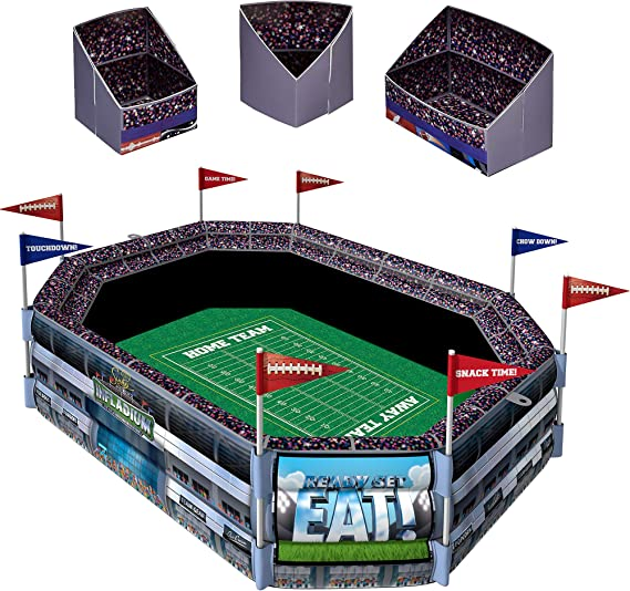 Sunny Anderson's Infladium: The Inflatable Snack Stadium, Drink Cooler, Football Party Supplies, by Amscan