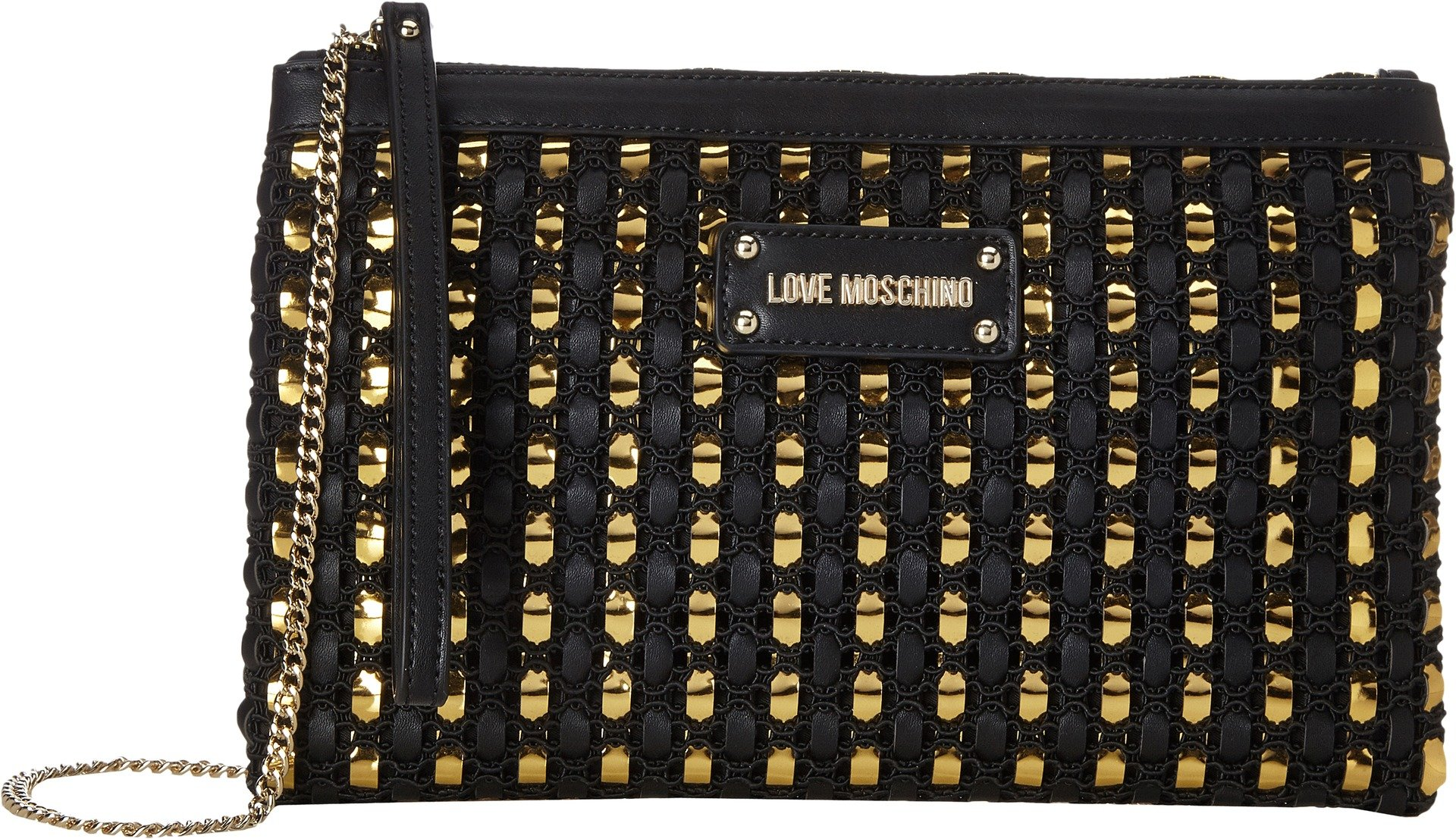 LOVE Moschino Women's Crossbody Chain Strap Fantasy Black One Size