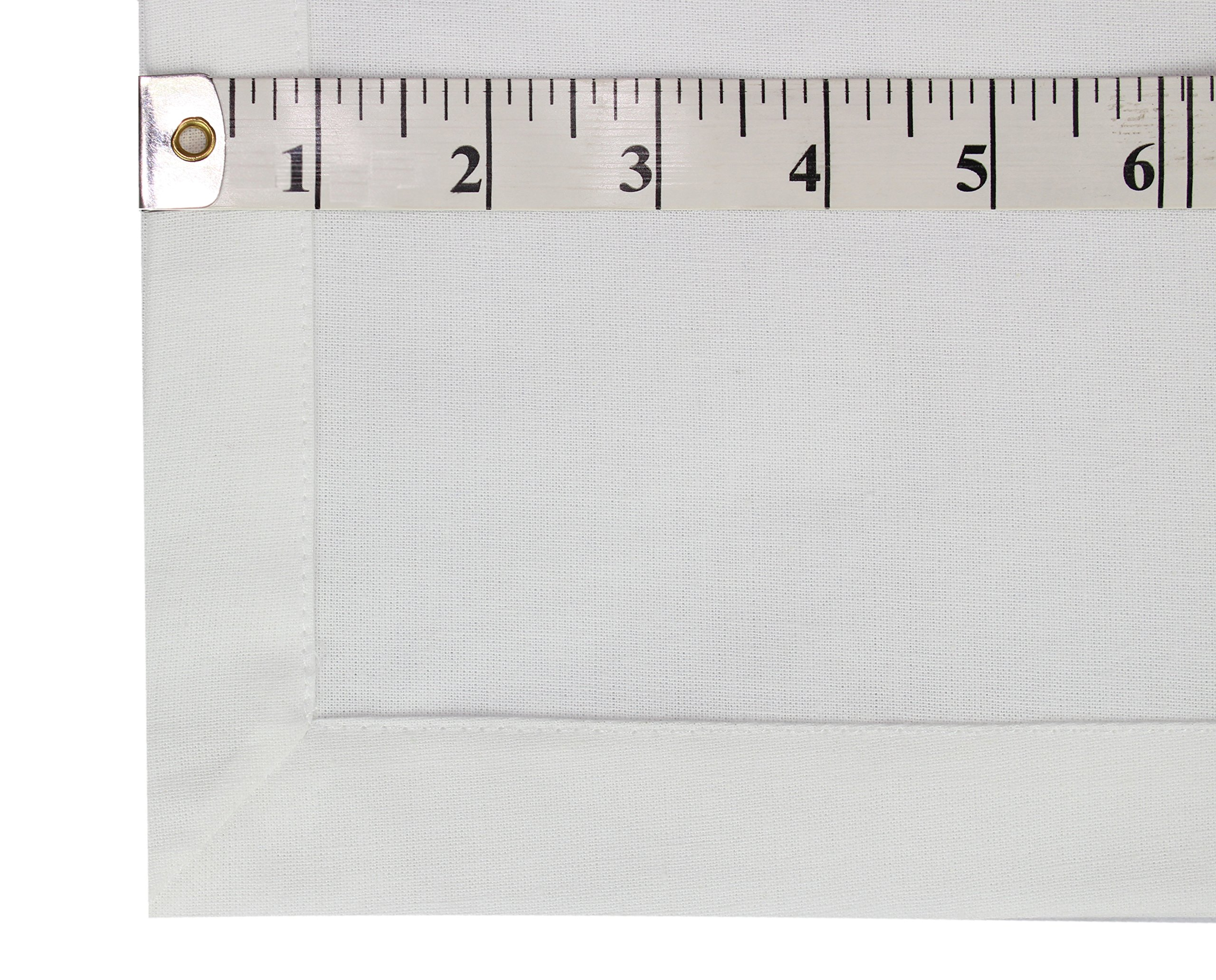 Cotton Craft Napkins, 12 Pack Oversized Dinner Napkins 20x20 White, 100% Cotton, Tailored with Mitered corners and a generous hem, Napkins are 38% larger than standard size napkins by Cotton Craft (Image #3)