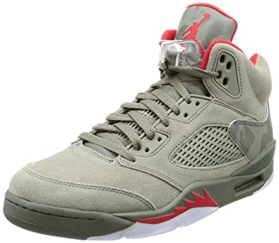 71619791e77 Image Unavailable. Image not available for. Color  Nike Air Jordan 5 Retro  Mens Hi Top Basketball Trainers 136027 Sneakers Shoes ...