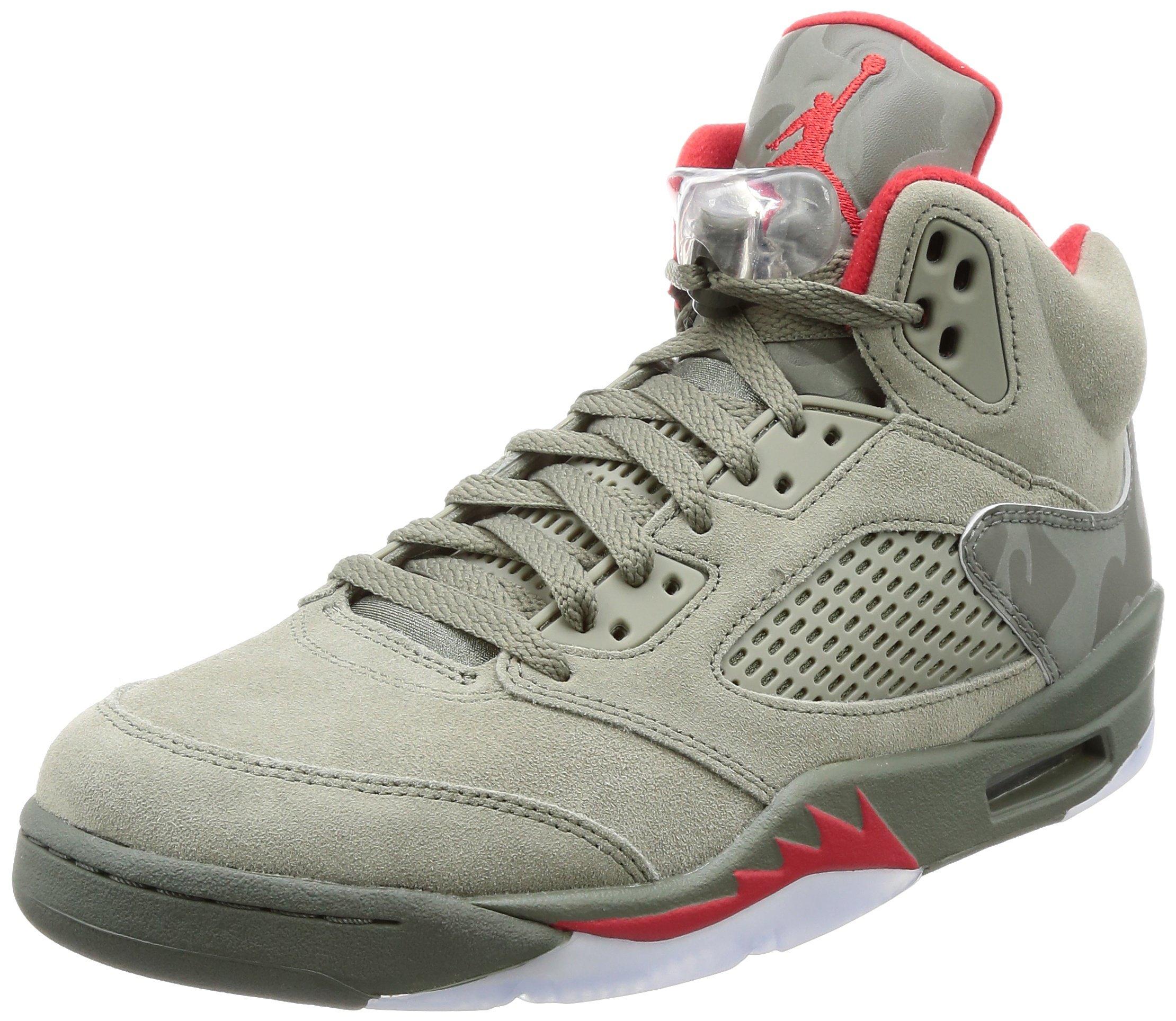 Air Jordan 5 Retro Reflective Camo casual sneakers mens dark stucco/university red NEW 136027-051 - 11