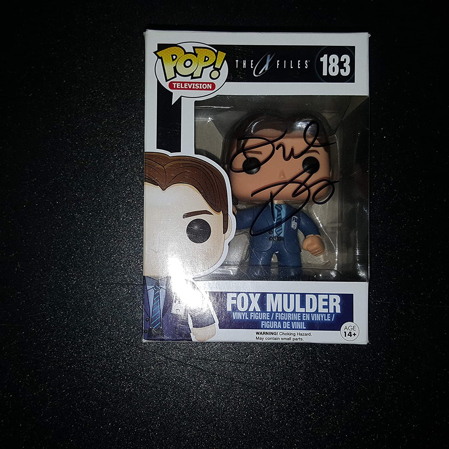 DAVID DUCHOVNY - Autographed Signed Fox Mulder FUNKO POP 183 Vinyl Figure THE X-FILES
