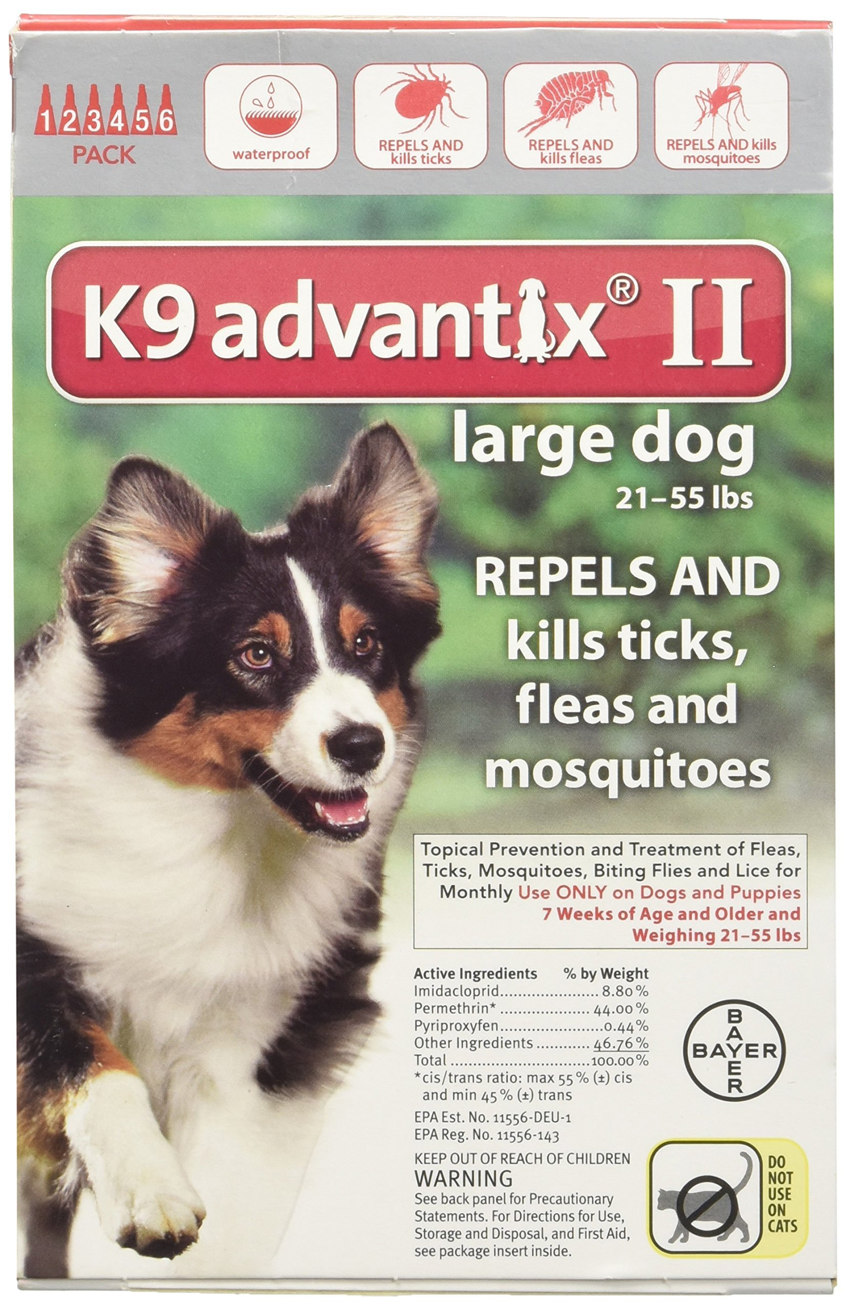 K9 Advantix II 6-Month Dogs 21-55 Lbs (Red)