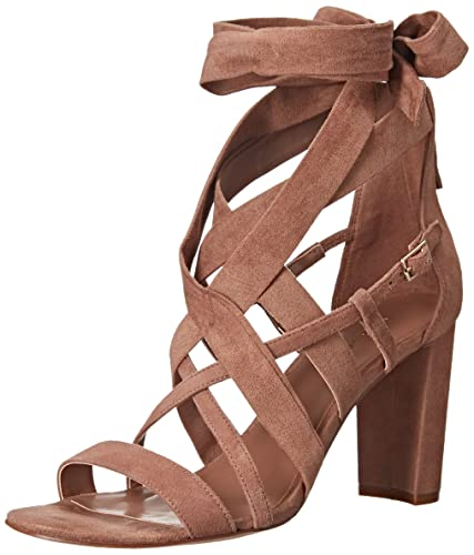 Nine West Women's Nuru Fabric Dress Sandal, Natural, ...