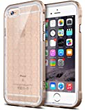 iPhone 6s Case, Ansiwee Reinforced Frame Crystal Slim Highly Durable Shock-Absorption Flexible Soft Rubber TPU Bumper Hybrid Protection Light Case for Apple iPhone 6s/6 4.7 inch (Gold)
