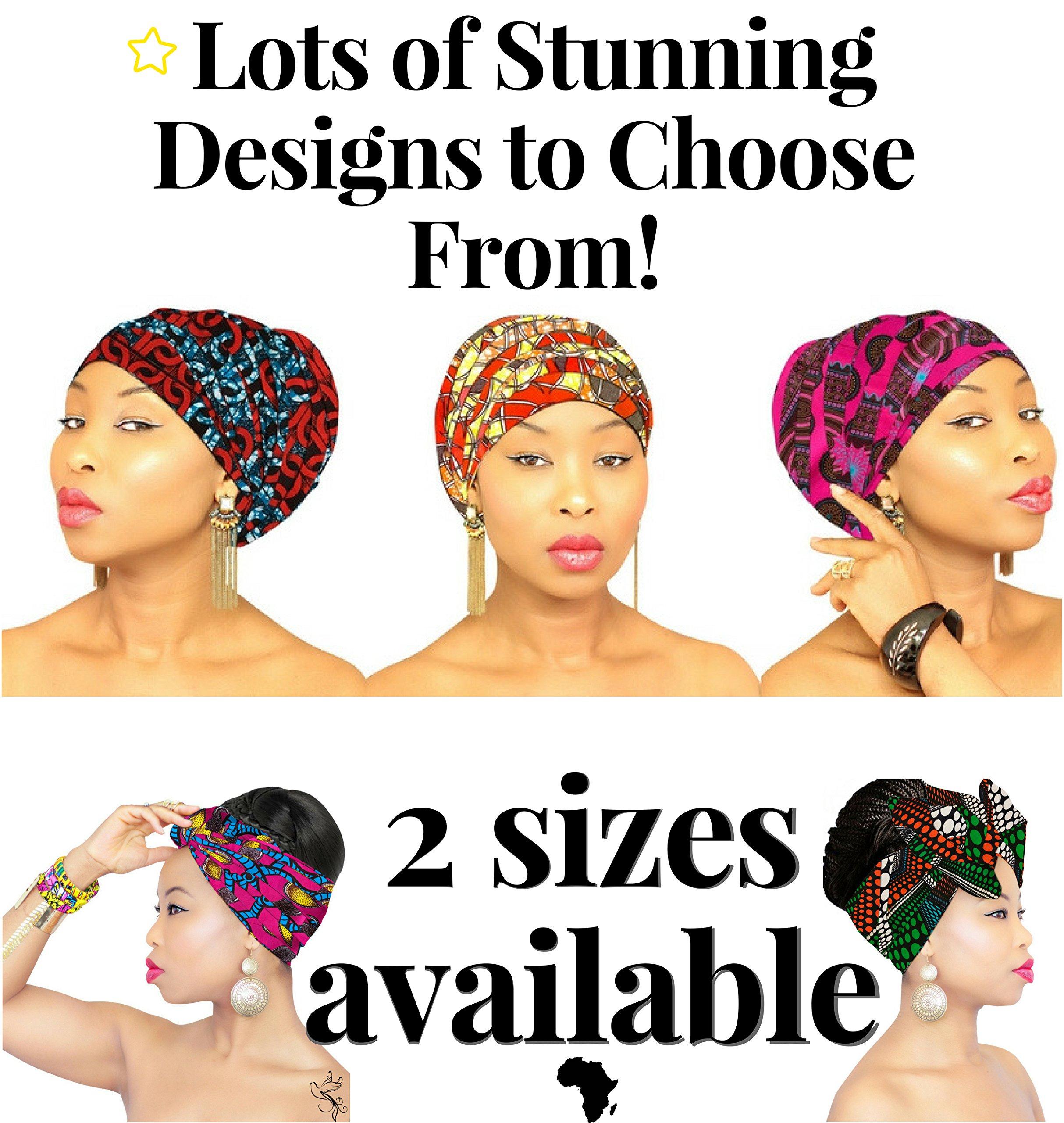 African Head Wrap   HEADBAND   HEAD WRAP   Hijab   PREMIUM QUALITY HEAD WRAP African Head Wraps Hair Loss African Fabric Turban Headband Muslim Head Cover Under Scarf by Royal Head Wraps (Image #5)