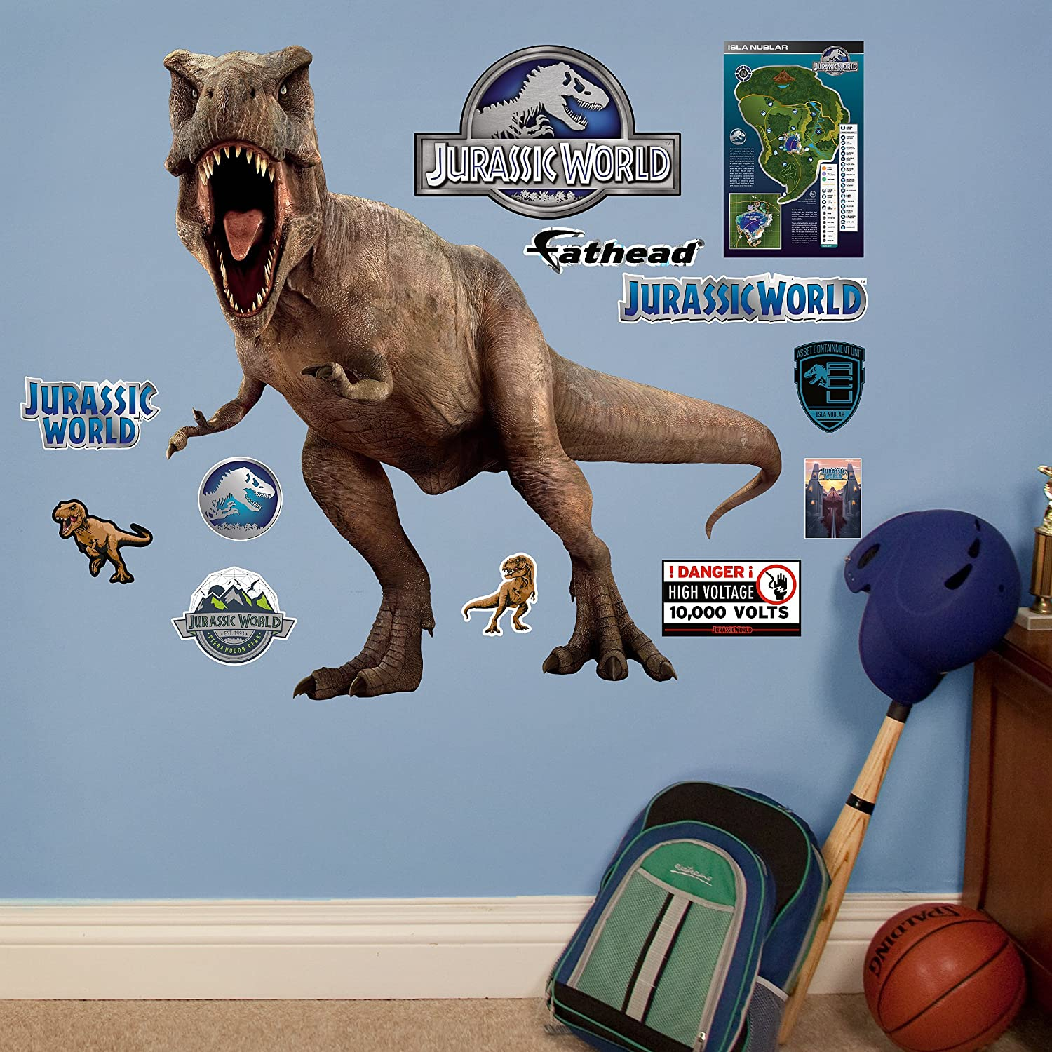 Amazon.com: Fathead T Rex Jurassic World Junior Peel And Stick Wall Decals:  Home U0026 Kitchen