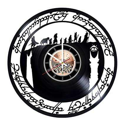 lord of the rings two towers vinyl record wall clock get unique bedroom wall decor