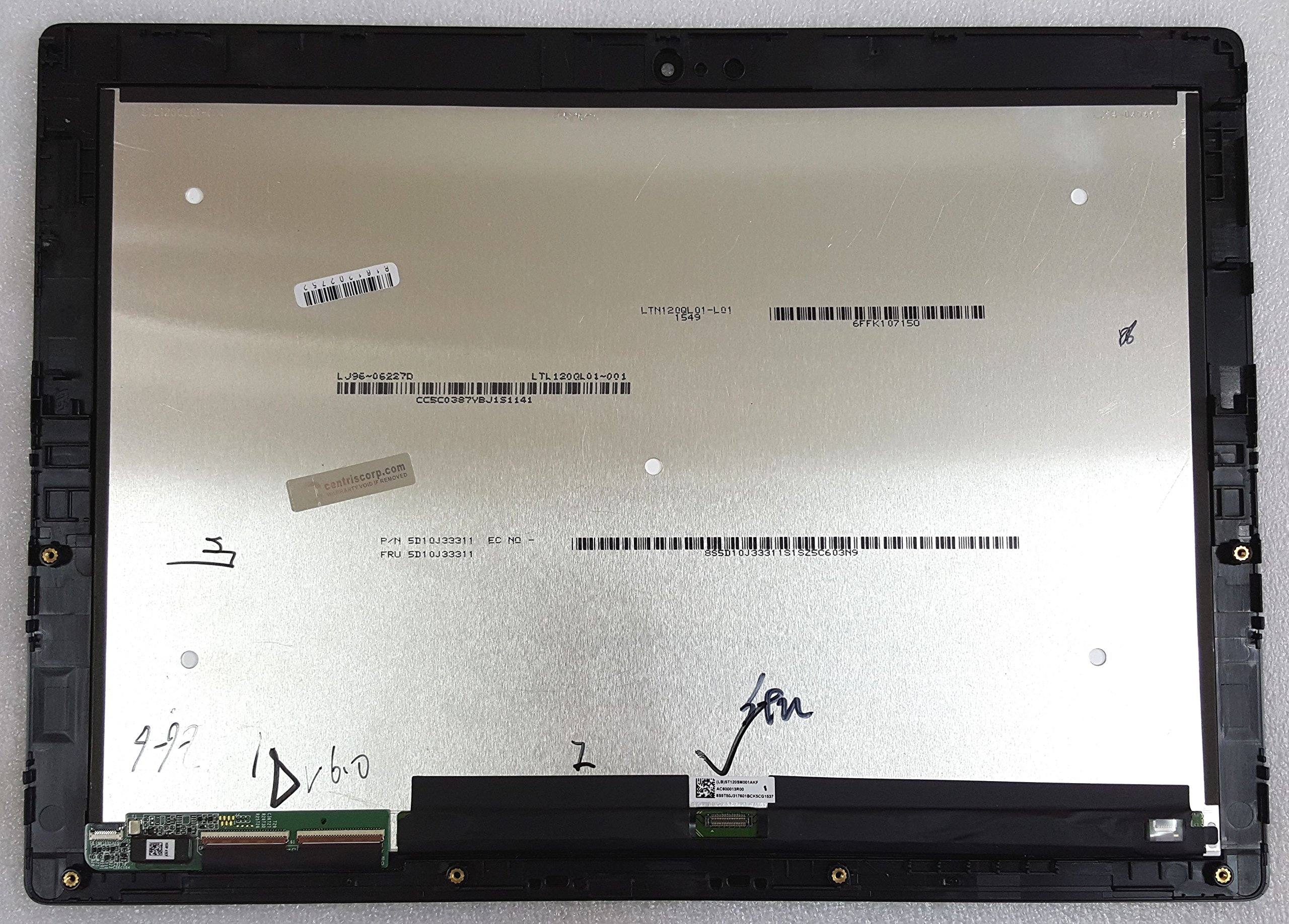 12'' Lenovo Miix 700 Touch Digitizer LCD (LTN120QL01-L01) Display Assembly with Bezel 5D10J33311