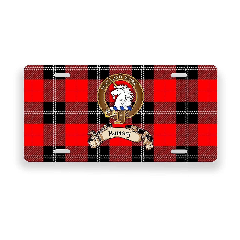 Ramsay Scottish Clan Tartan Novelty Auto Plate