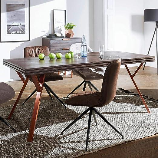 KS-Furniture DEWAS - Mesa de Comedor (200 x 77 x 100 cm, Madera ...
