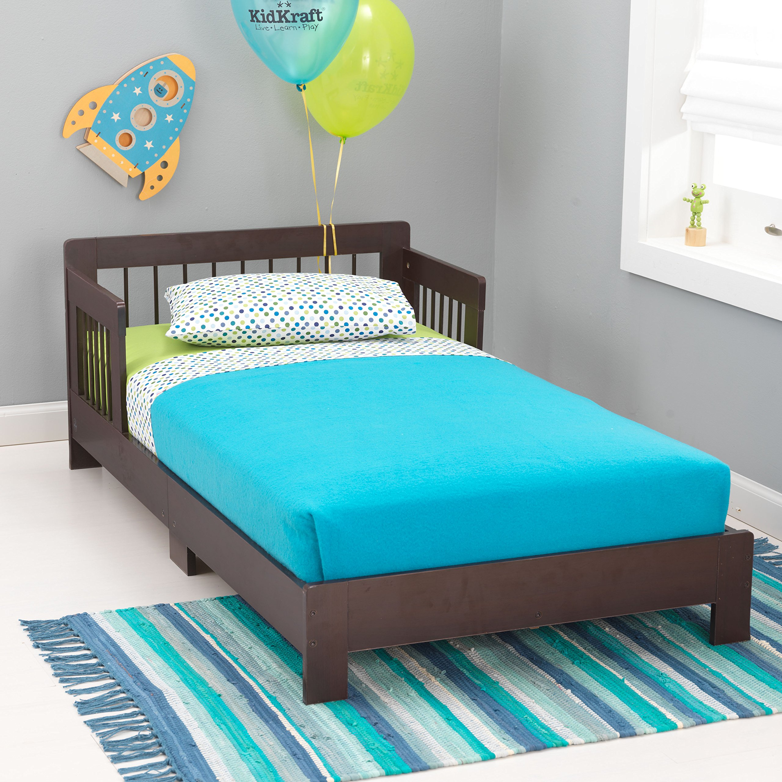 KidKraft Toddler Houston Bed, Espresso