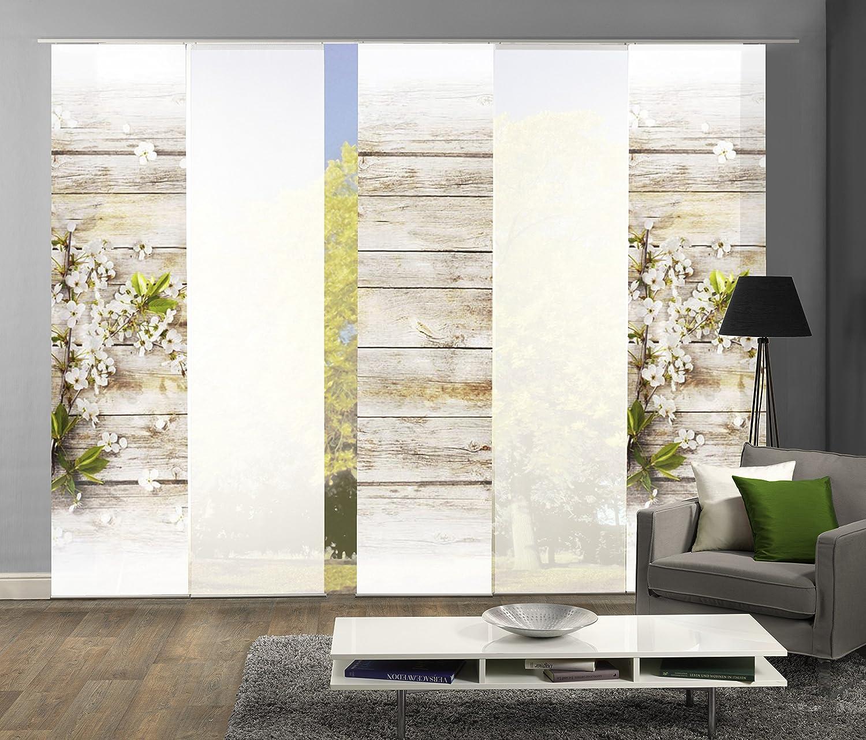 Abitiamo 5er-Set Flächenvorhang Lucca, 95893-768, bestehend aus Motiv- und Uni-Flächenvorhängen   je 245x60 cm