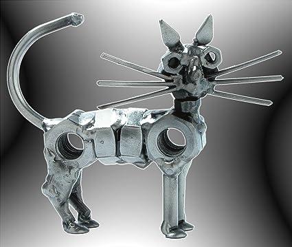Boys Toys HK diseño - Figura de gato y pisapapeles - animales de metal Art - gatos ideas para regalo Decoración ...