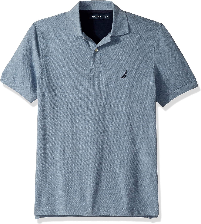 Nautica Mens Short Sleeve Solid Stretch Cotton Pique Polo Shirt Polo Shirt