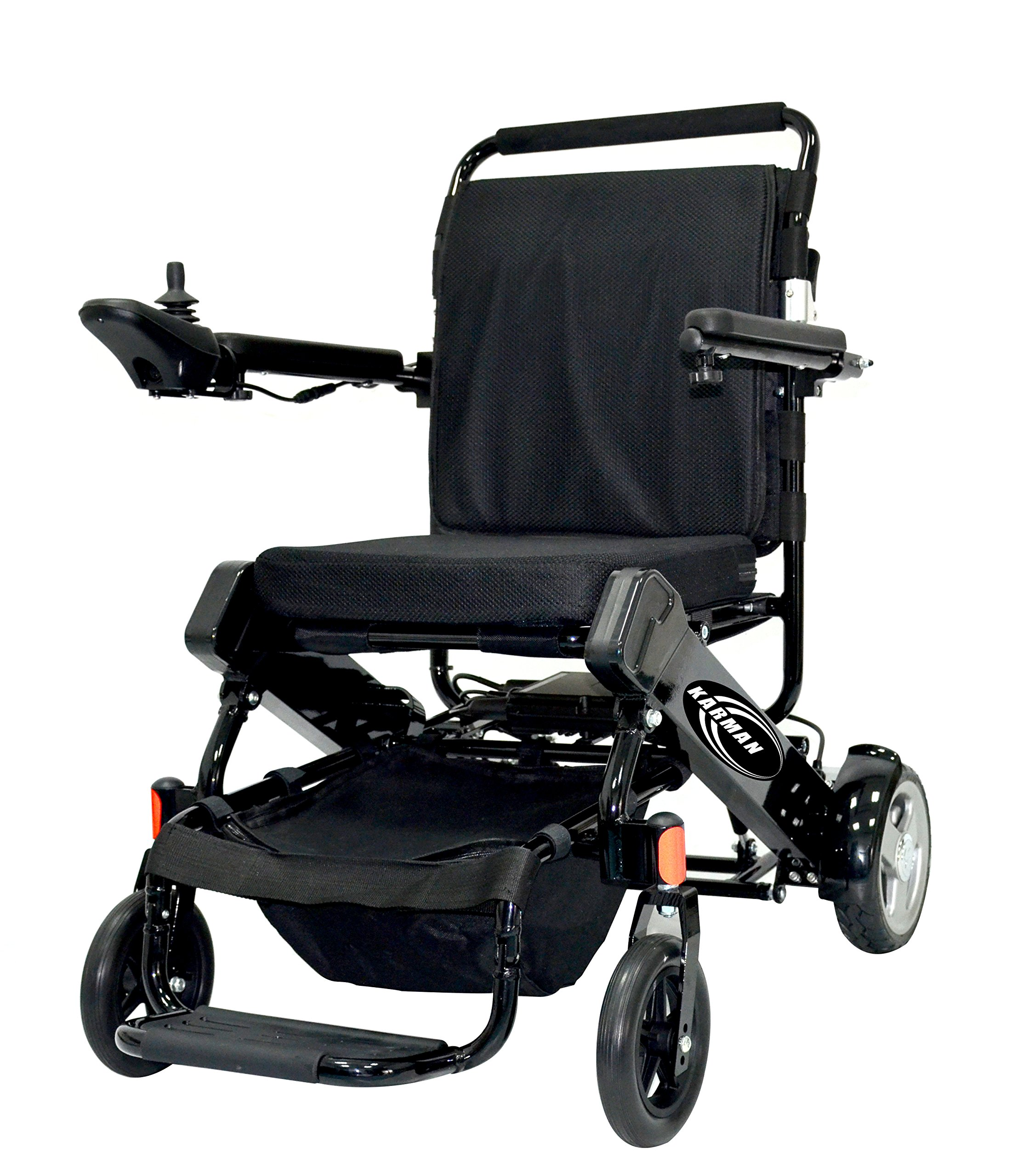 Karman Healthcare Tranzit Foldable Lightweight Power Wheelchair, Black, 42 Pound