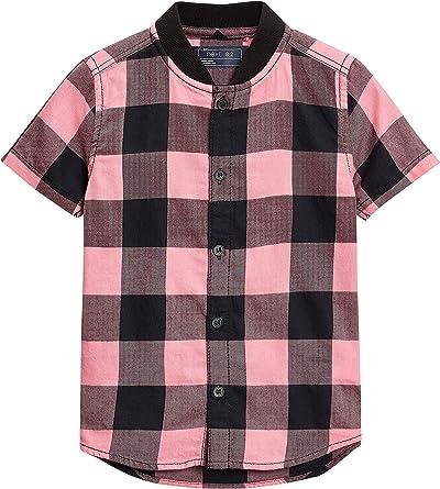 next Niños Camisa Rosa De Manga Corta con Estampado De Cuadros (3 Meses - 6 Años) Rosa/Gris 5-6 Años: Amazon.es: Ropa y accesorios