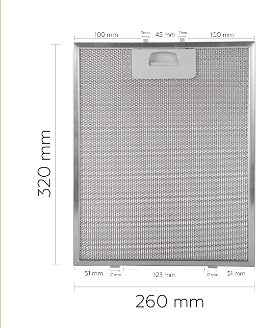 SERENA Filtro 320x260 (Paquete de 2) (aluminio): Amazon.es: Hogar