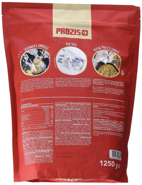 Prozis Instant Oats, Natural - 1250 gr: Amazon.es: Salud y cuidado personal