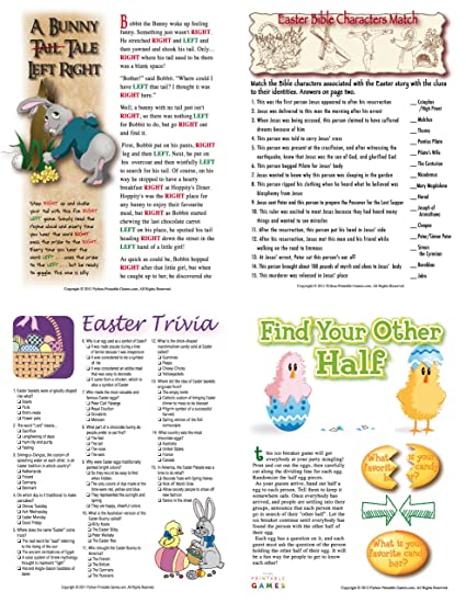 image about Printable Family Games identify : Printable Easter Bash Online games Packet for Mac