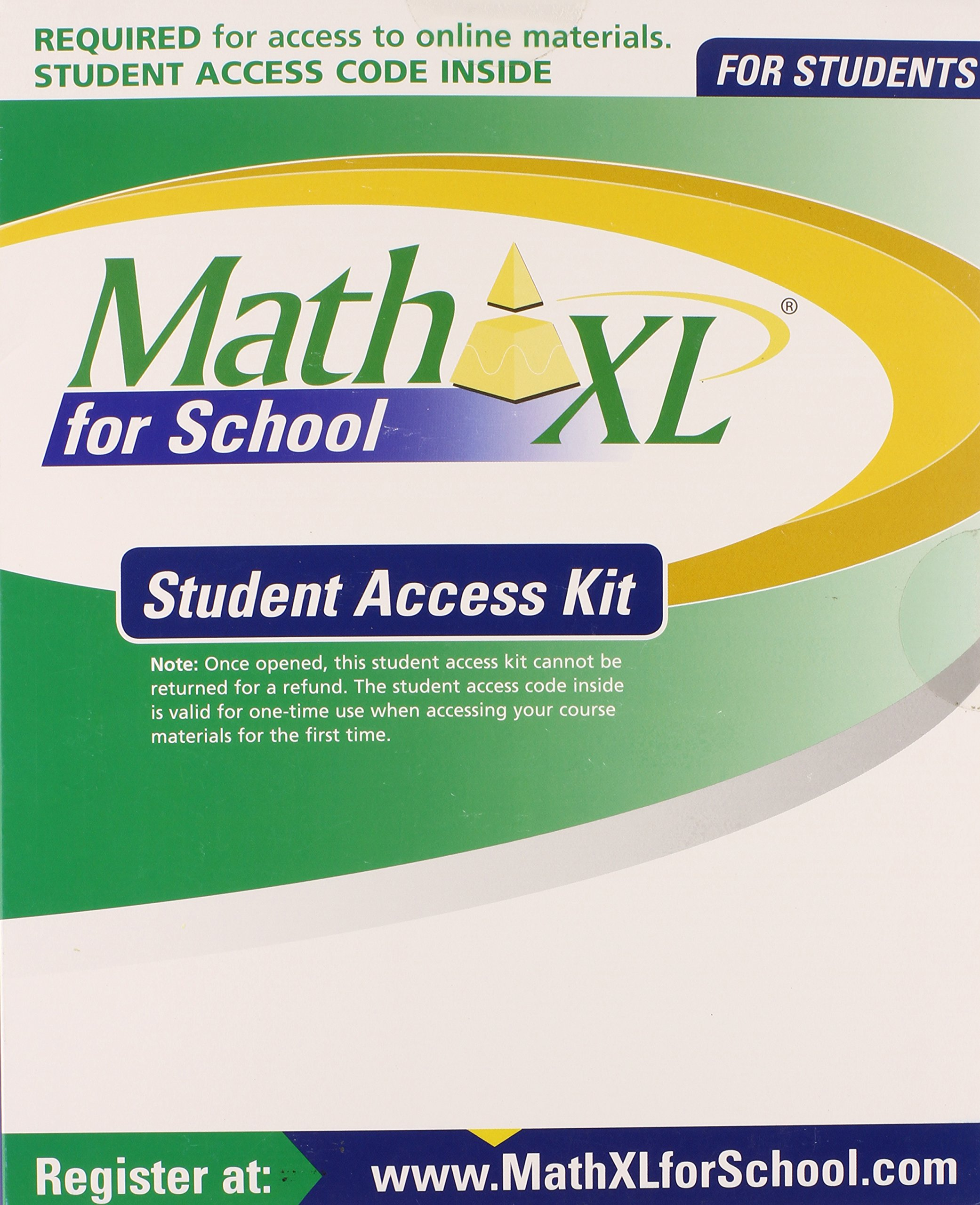 mathxl for school student access kit 9780133171365 amazon com books