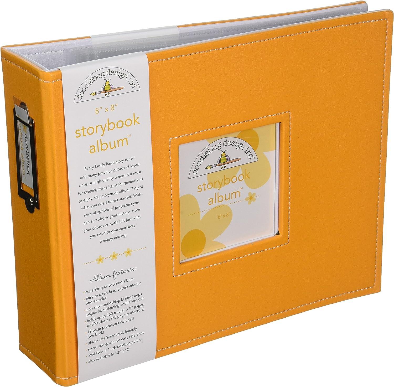Tangerine Doodlebug Design Storybook for Scrapbooking Album 12 by 12-Inch
