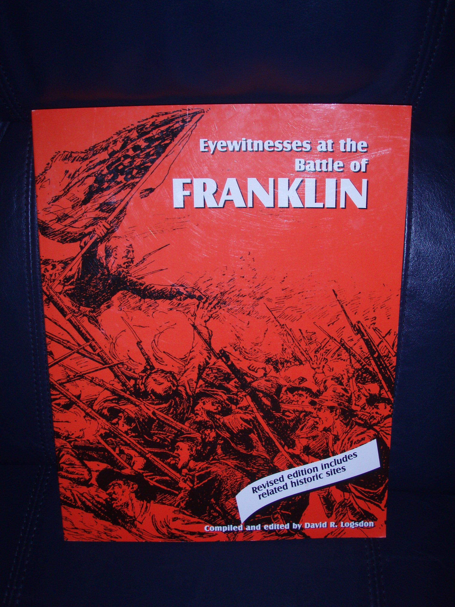 Read Online EYEWITNESSES AT THE BATTLE OF FRANKLIN pdf