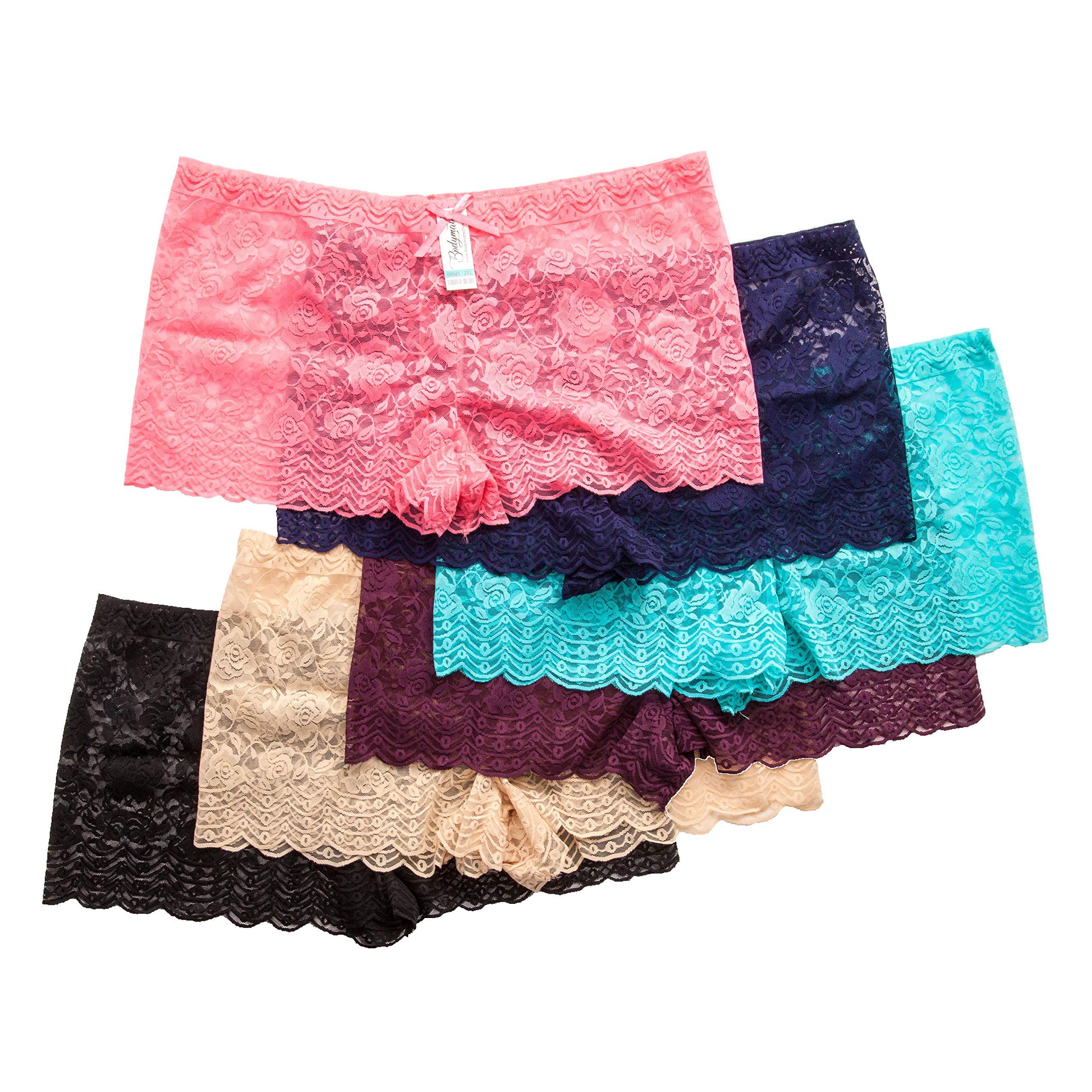 23366d688 Galleon - Barbra s 6 Pack Of Women s Plus Size Lace Boyshort Panties (2XL)