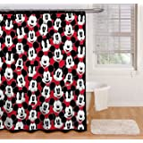 Amazing Disney Mickey Mouse Big Face Mickey Shower Curtain