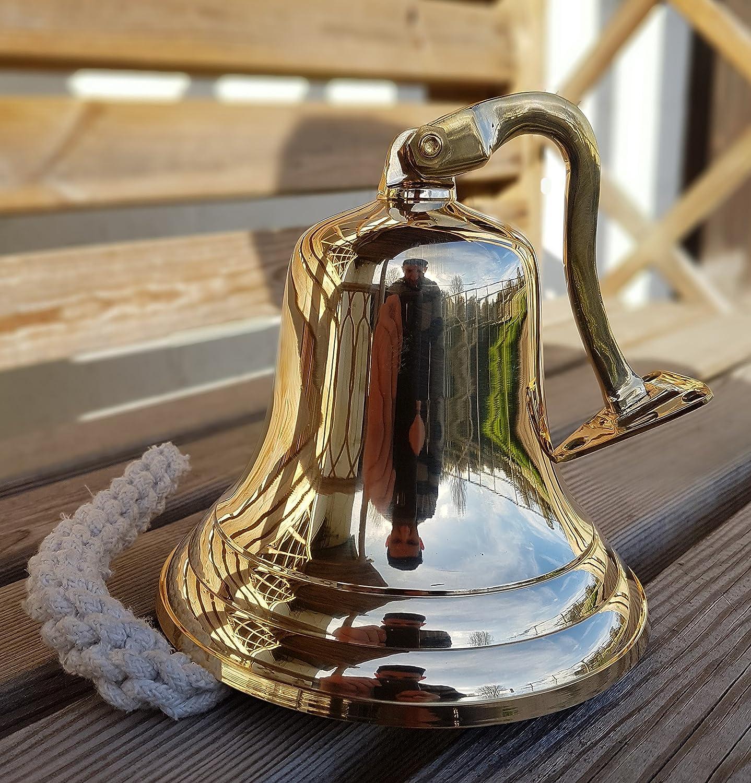 Antique Brass Wall Bell Vintage Ship/'s School Pub Last Orders Dinner Door 5 inch