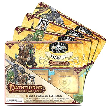 Pathfinder Skull and Shackles Character Mat (4-Pack)