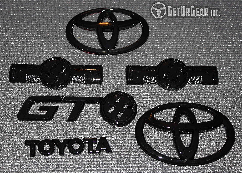 2017+ For GT86 FRS Black Replacement Badge Bundle 2017+, Gloss Black 2012+ Complete Set
