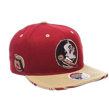 7bb115b900e ZHATS NCAA Florida State Seminoles Adult Men s Drop Step Snapback Hat