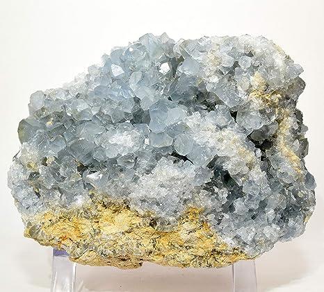 Natural Blue Celestite Crystal Geode from Madagascar