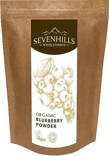Sevenhills Wholefoods Organic Blueberry Powder, Raw Freeze-Dried, 200g