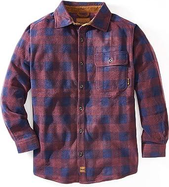 Venado Inc. - Camisa de Manga Larga para Hombre con Botones de Forro Polar
