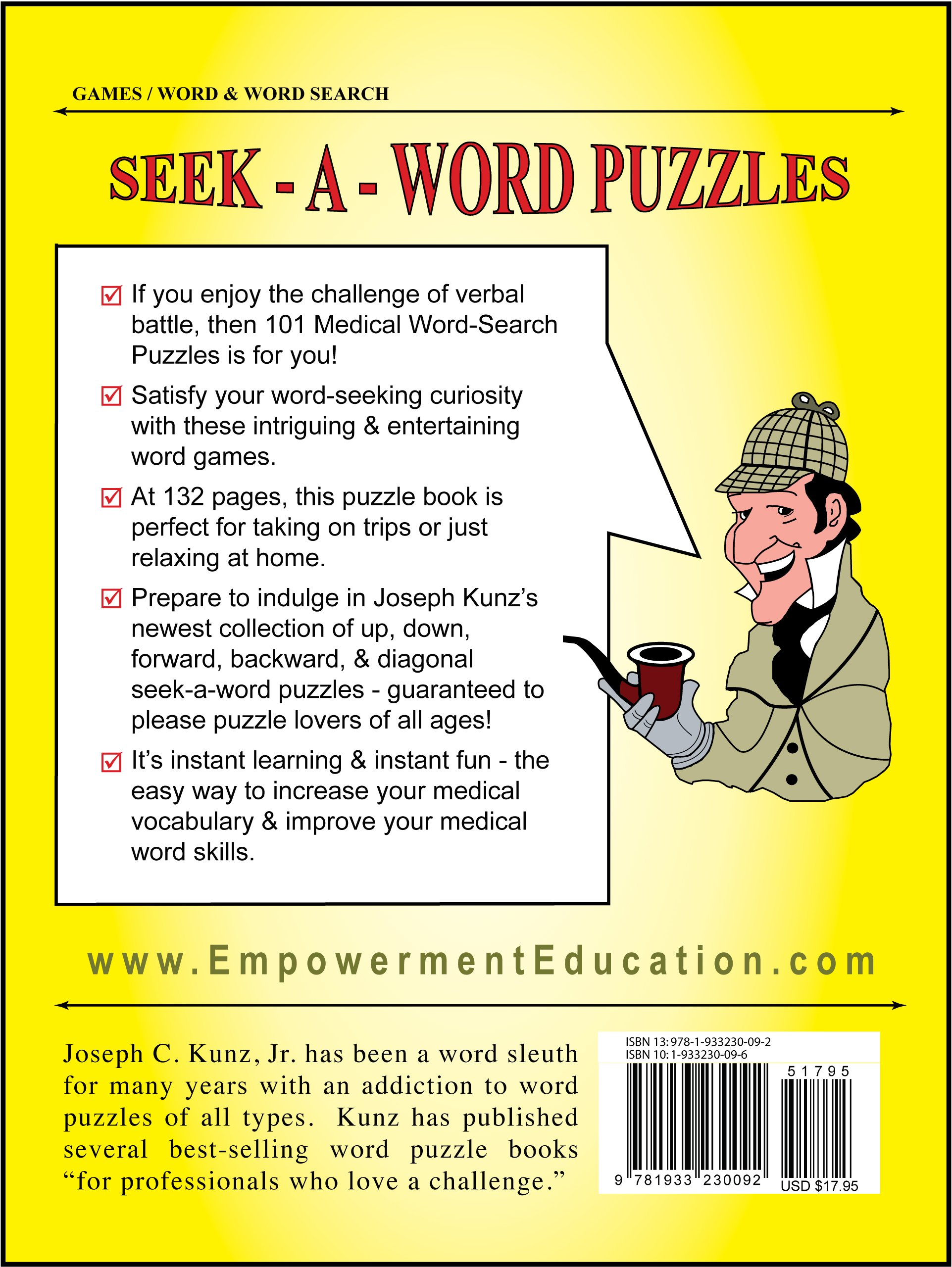 101 Medical Word-Search Puzzles: Joseph C. Kunz Jr., Michele G. Kunz:  9781933230092: Amazon.com: Books