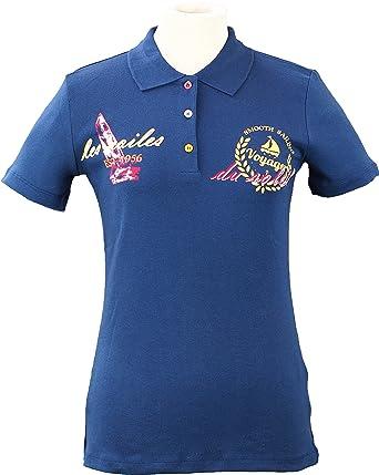 ShopFreunde - Polo - Básico - para mujer marine 56/58: Amazon.es ...