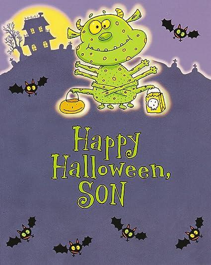 Amazon hallmark halloween greeting card happy halloween son hallmark halloween greeting card quothappy halloween m4hsunfo