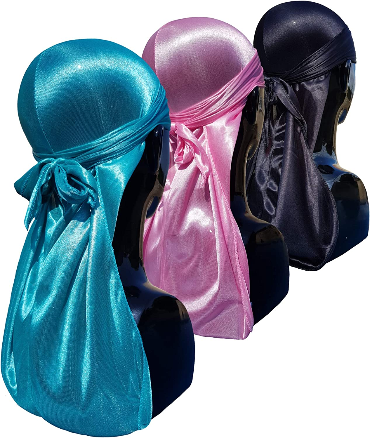 2Pcs Silky Durags For Men And Women Light Weight And Very Breathable Durag To Keep Waves And Cornrow Fresh