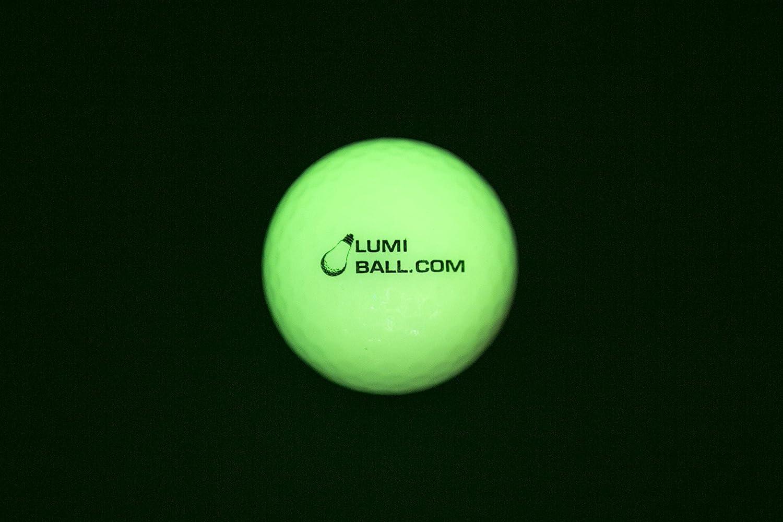 Lumiball - Pelota de golf luminosa para jugar en la oscuridad ...