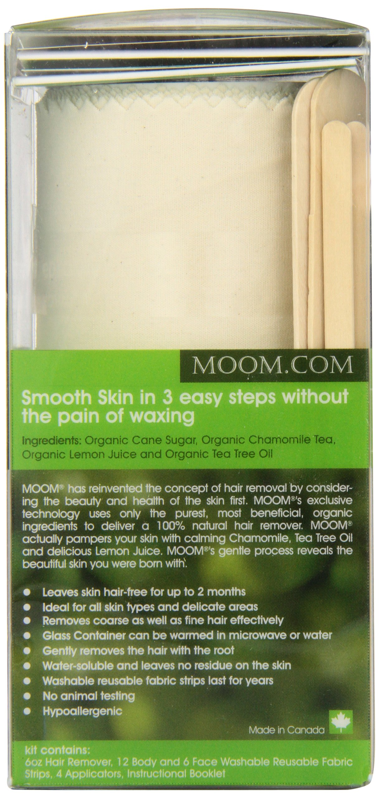 Moom Organic Hair Removal Kit, Tea Tree, 6-Ounce Package by Moom (Image #5)