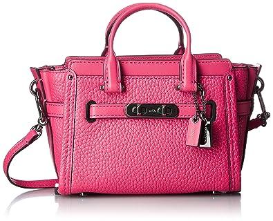 Coach Swagger Mini Dark Pink Amarenth Leather Handbag Bag New ...