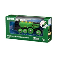 Brio World - 33593 - LOCOMOTIVE VERTE PUISSANTE A PILES