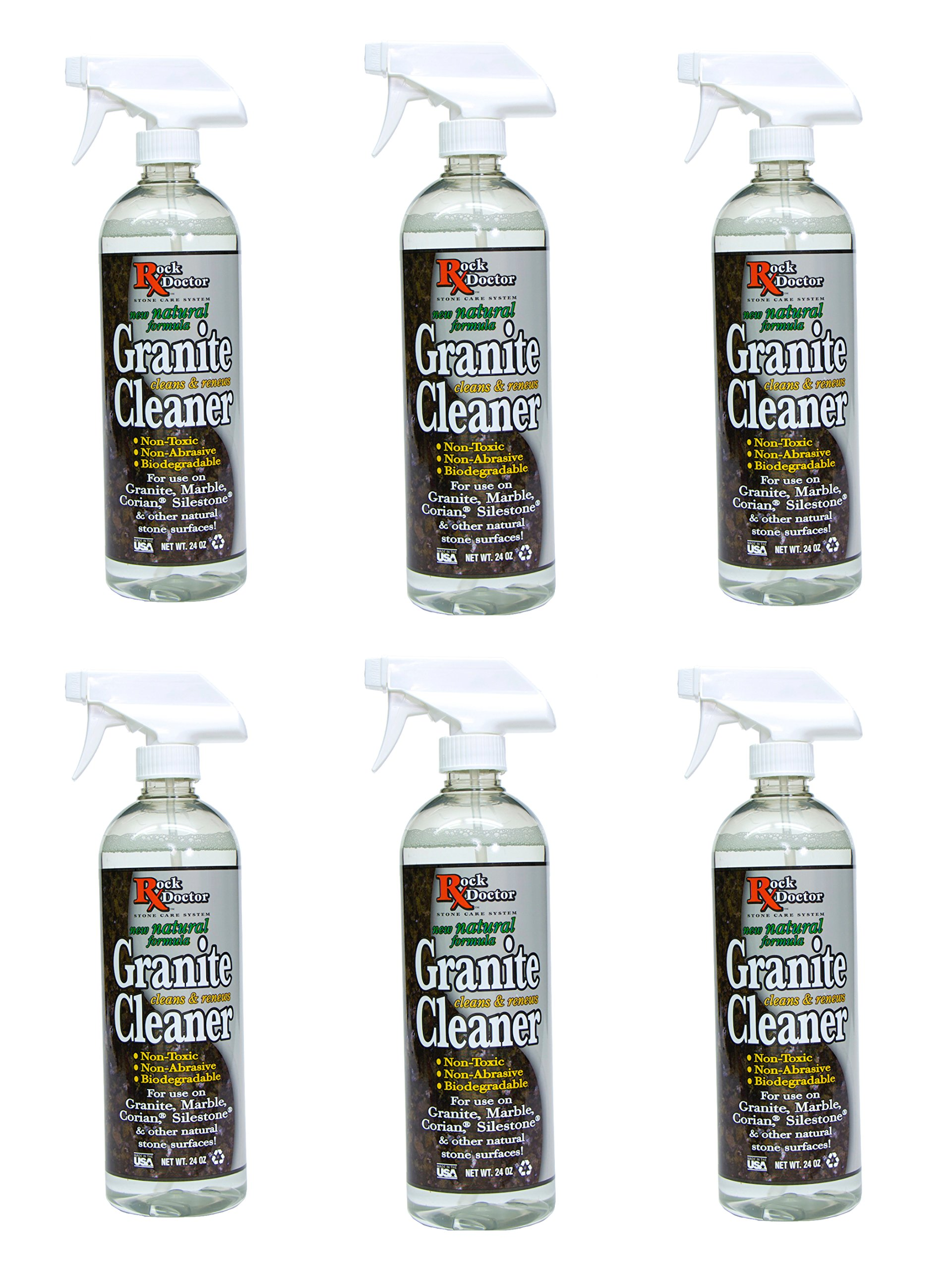 Rock Doctor Natural Granite Cleaner for a Sparkling Kitchen, Natural Cleaner - Non-Toxic Granite Cleaner for Kitchen Counter, Table Top & Marble Countertop - Biodegradable pH Neutral Cleaner, 24 oz. by Rock Doctor