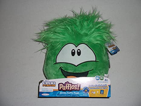 Club Penguin Jumbo Puffle Plush Green