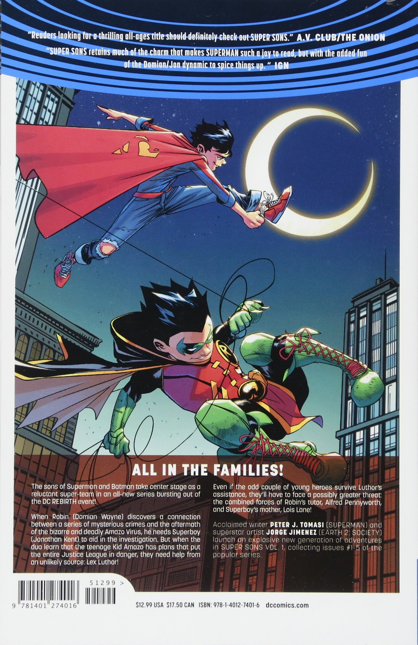 Super Sons Volume 1 (Super Sons - Rebirth): Amazon co uk